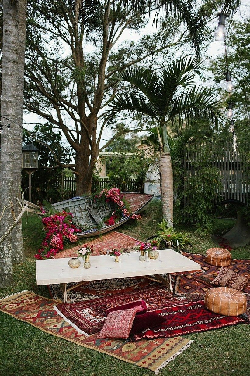 Wedding Decoration Ideas: 35 Ways to Transform Your Venue | Boho decor,  Moroccan wedding, Backyard reception