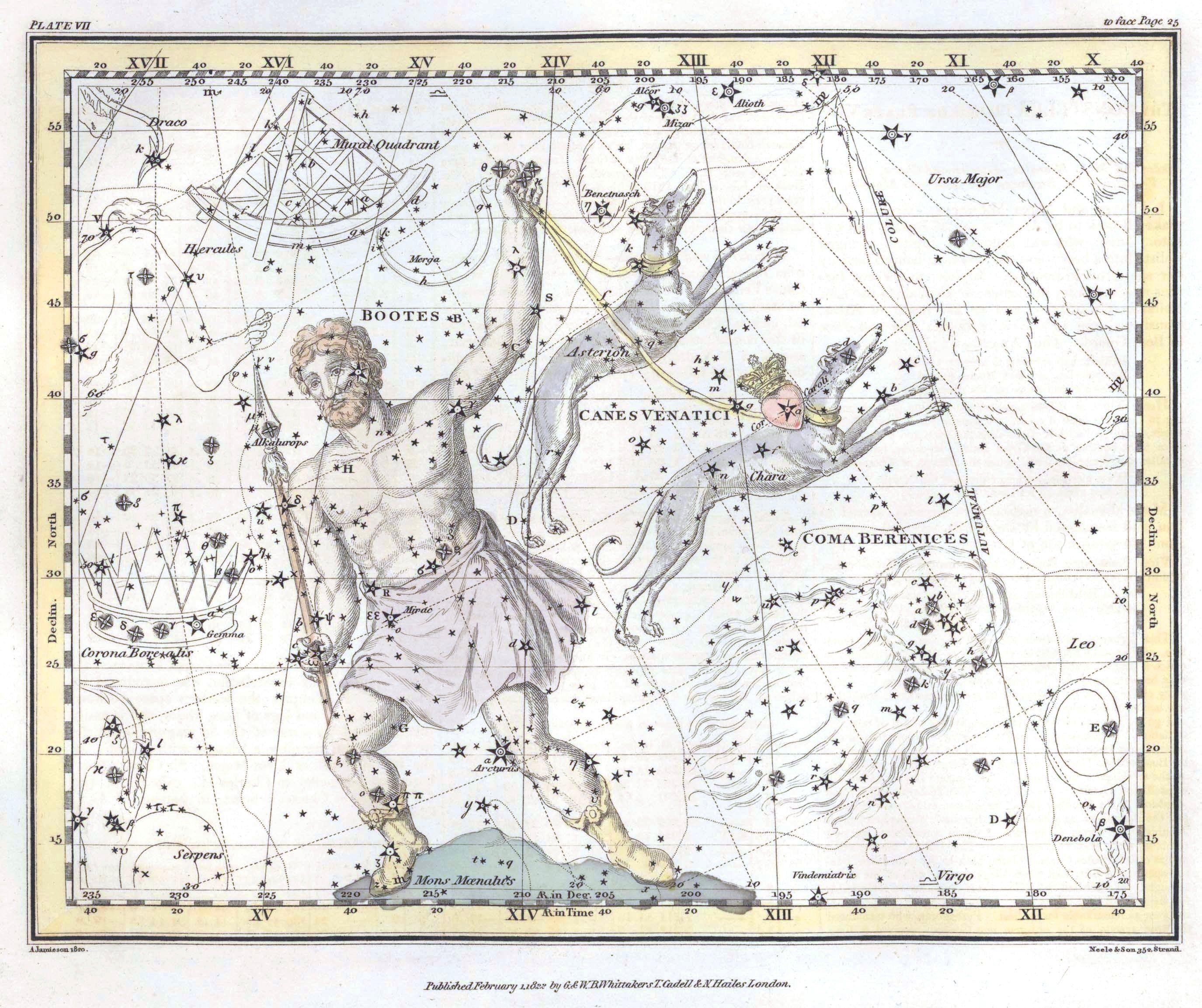 Astronomy Celestial Atlas Jamieson 1822 Plate 10 Astronomy Celestial Atlas Jamieson 1822 Plate 10 Jamieso Mapas Antiguos Constelaciones Mapas