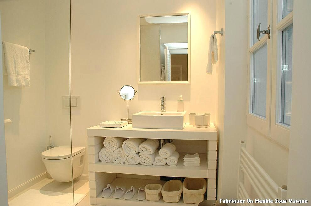 creer meuble salle de bain bien meuble vasque salle de bain ...