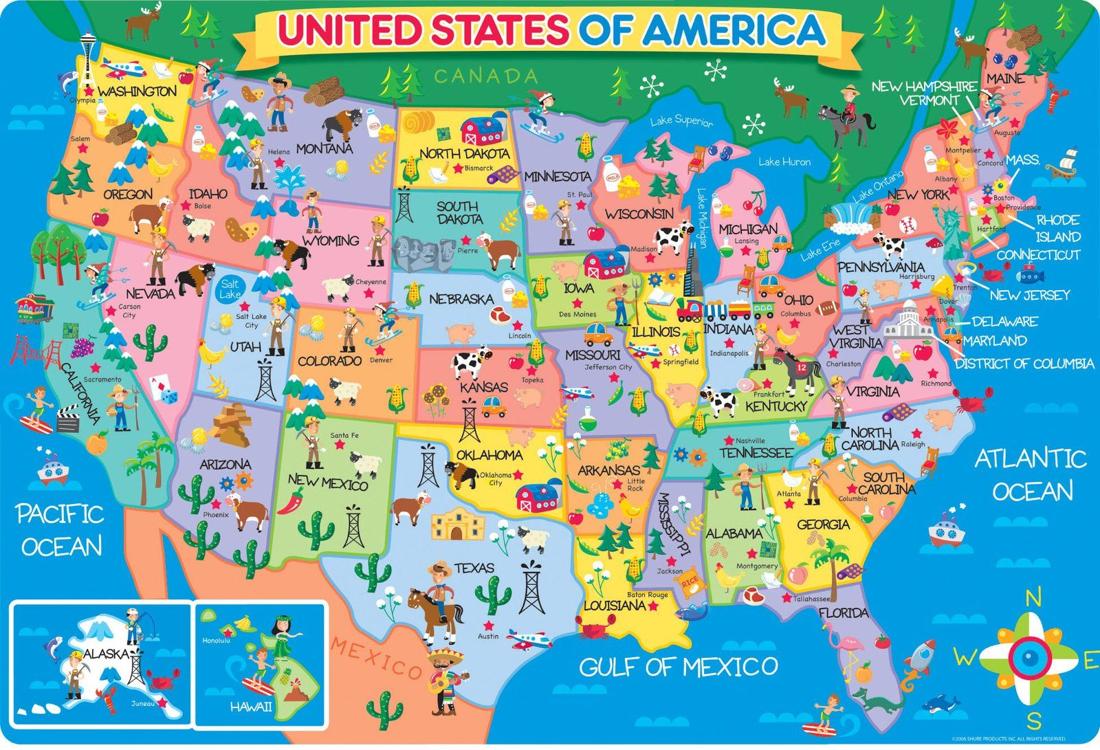 Puzzle of 50 states kids shure us map floor puzzle 24 pc free puzzle of 50 states kids shure us map floor puzzle 24 pc free shipping gumiabroncs Gallery