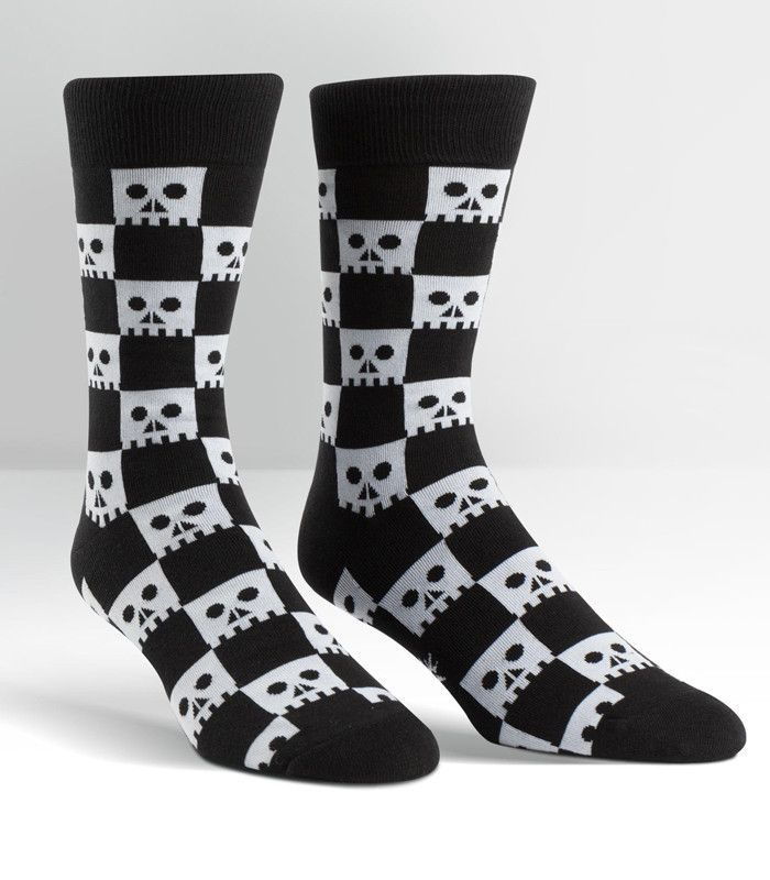 Check Your Skull Sock It To Me Men/'s Crew Socks