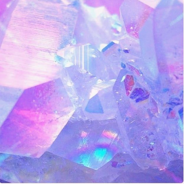 Crystal Shining Blue Pink Purple Rainbow Aesthetic Pretty Lavender Aesthetic Aesthetic Colors Purple Aesthetic