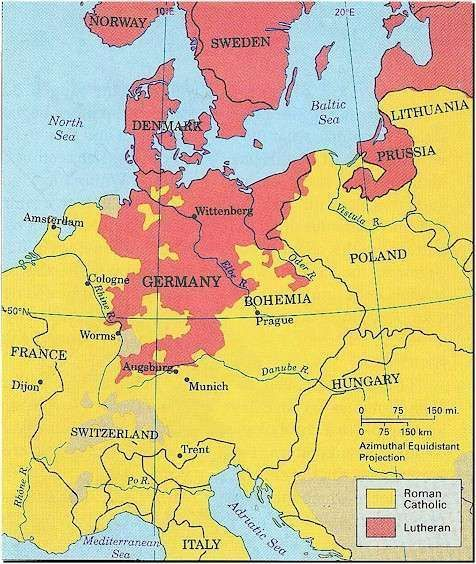 Map showing lutheran areas of europe at the time of the map showing lutheran areas of europe at the time of the reformation gumiabroncs Image collections