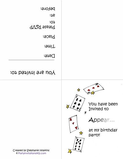 free printable magic party invitations blake party Pinterest