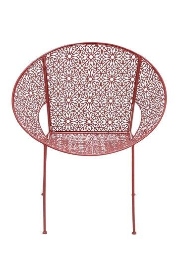 Red Metal Chairs Set Of 4 By Uma Enterprises Inc On Hautelook