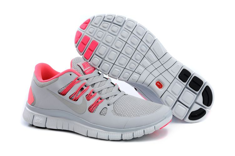 Womens Nike Free 5.0+ Wolf Grey Pink Force White [CW310