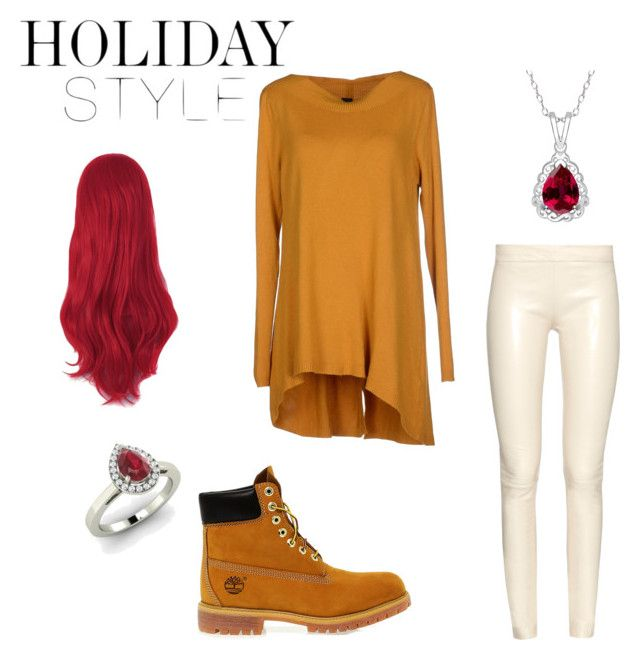 """Holiday Style"" by anafalda ❤ liked on Polyvore featuring The Row, Miss Miss, Timberland and Diamondere"
