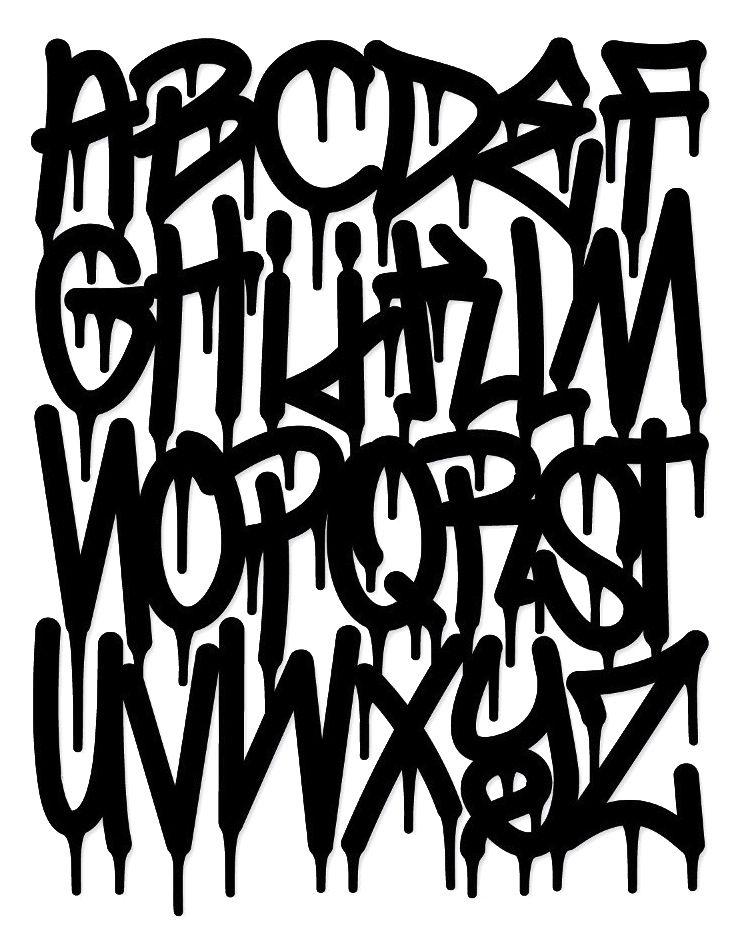graffiti tagging - Halloween Writing Font