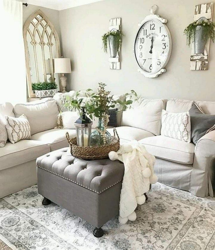 ✔48 best and popular farmhouse living room decor ideas 23 images