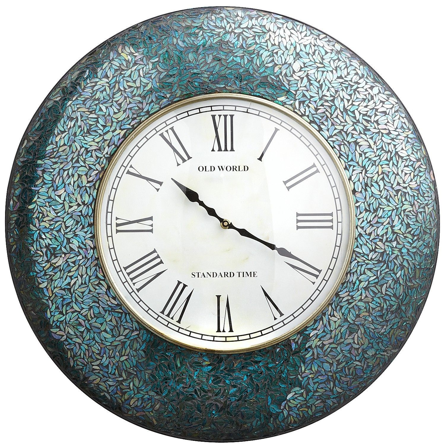 Pier 1 Peacock Mosaic Clock Makes Watching Time Beautiful