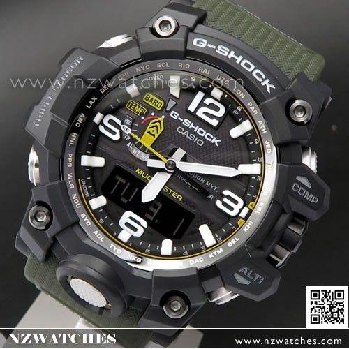 Casio G-Shock MUDMASTER Triple Sensor Solar Multiband 6 Watch GWG-1000-1A3 42b38a19a3a2