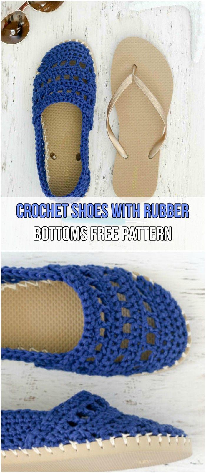 7 Easy Crochet Slippers Free Patterns | Confección zapatos hechos a ...
