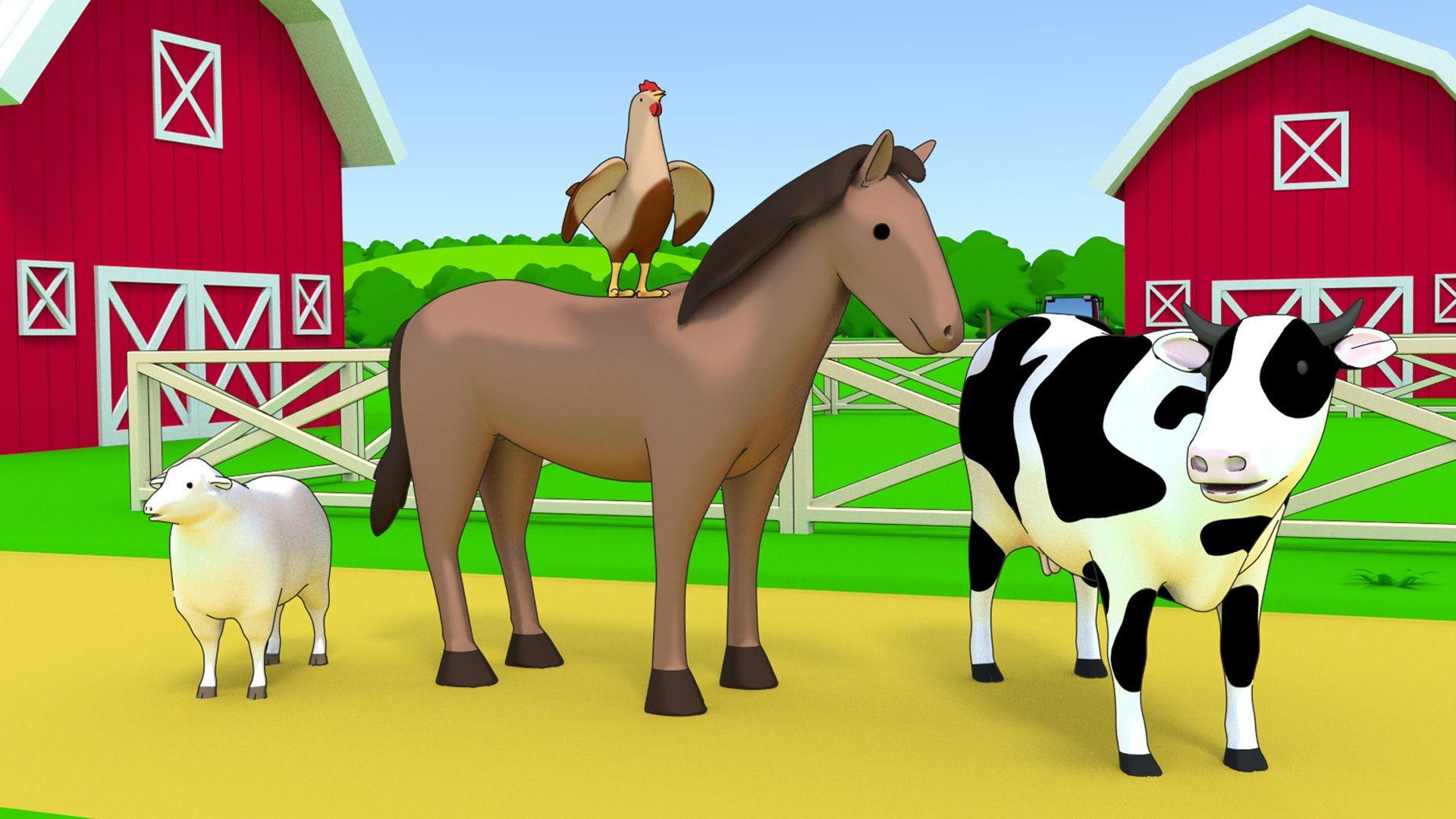 Farm animals name and sound Kids Learning educational