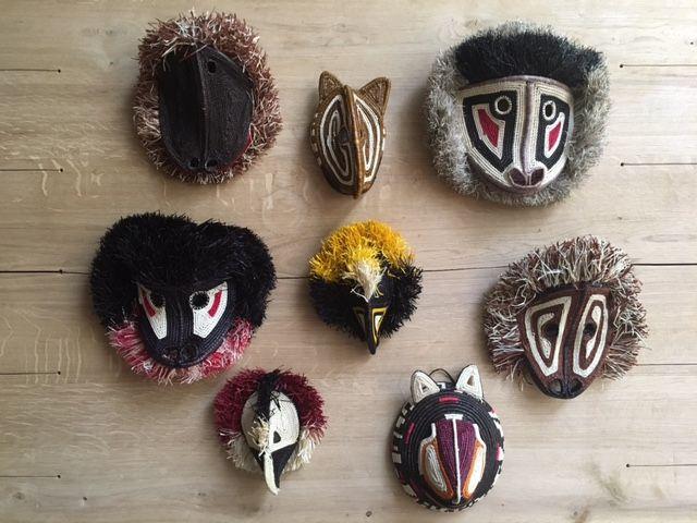 handmade masks from Panama. fair trade