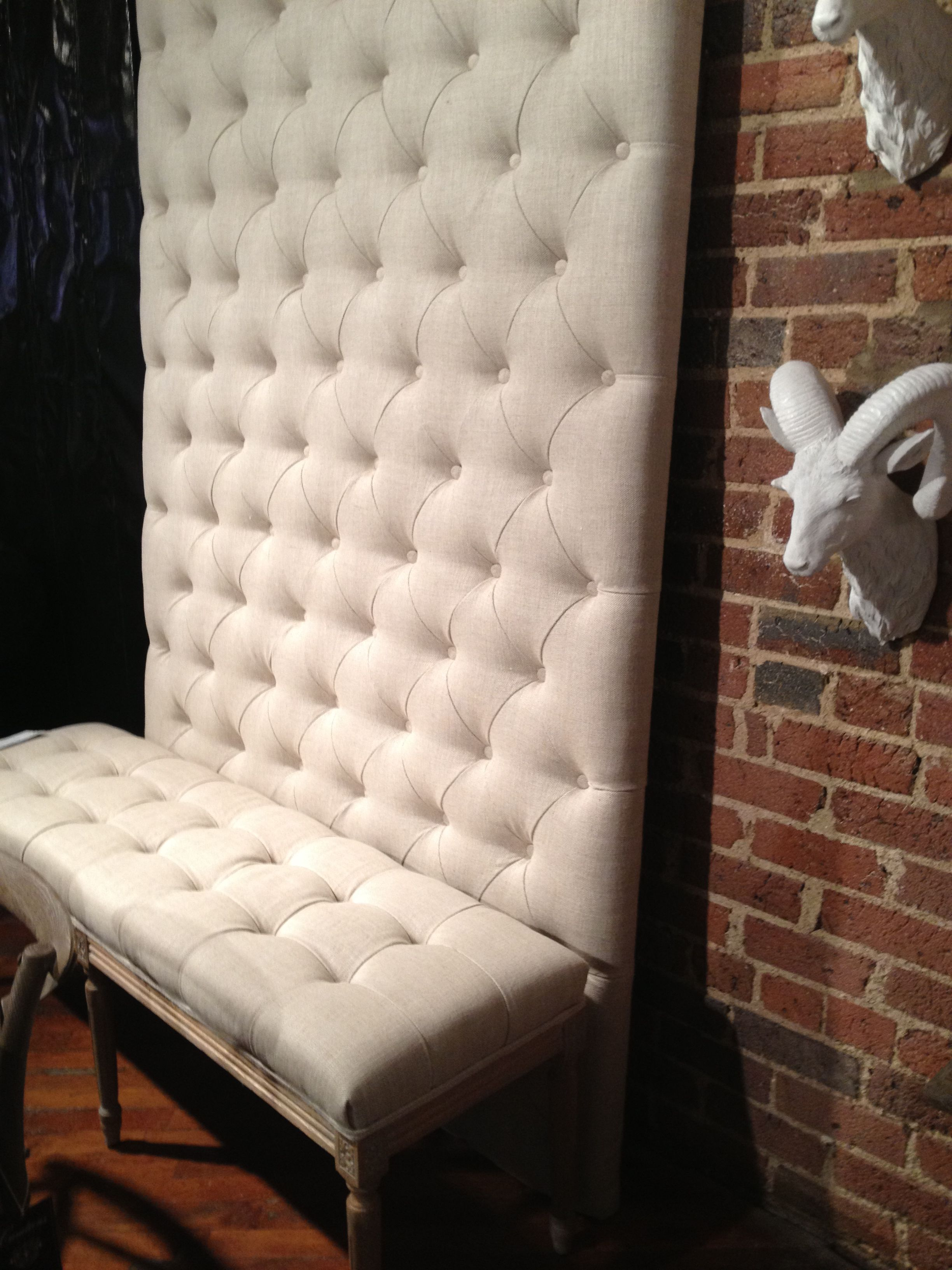 Tufting walls with matching bench  Creative wall