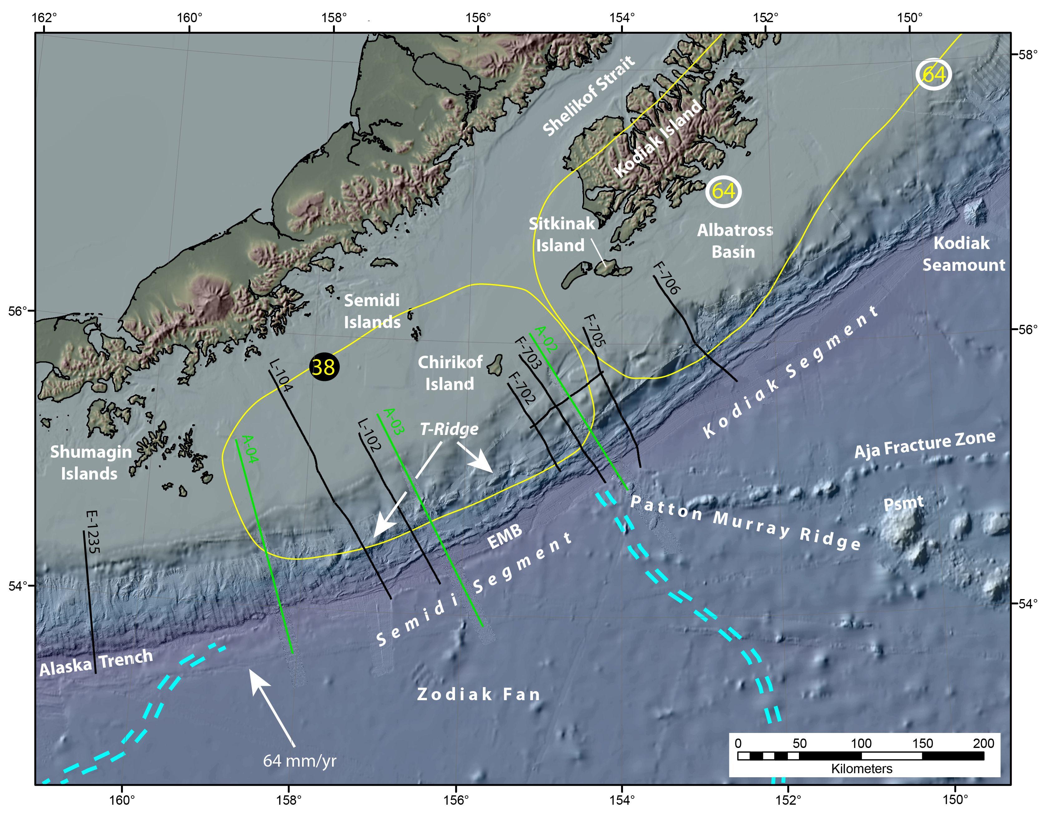 California Quake Map Usgs%0A Alaska u    s Subduction Zone and Potential for Large Tsunamis   Science    UNAVCO   Figure courtesy of
