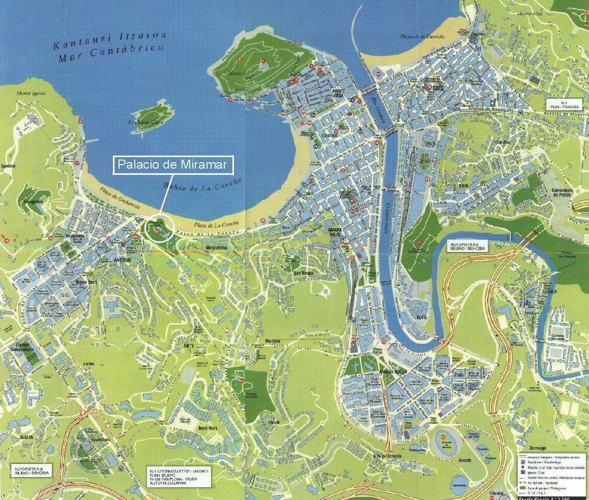 San Sebastian Map Of Spain.San Sebastian Spain Map One Day I Ll Go There In 2019