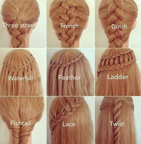 Different Braid Styles I Wish I Knew How To Do Stuff To My Hair Hair Styles Long Hair Styles Hairstyle