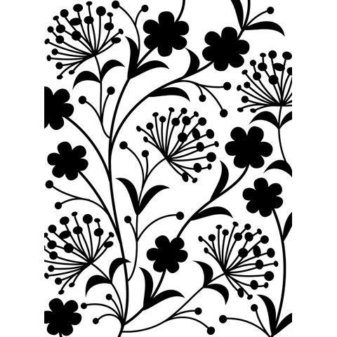 4.25 by 5.75-Inch Darice Embossing Folder Dainty Flower