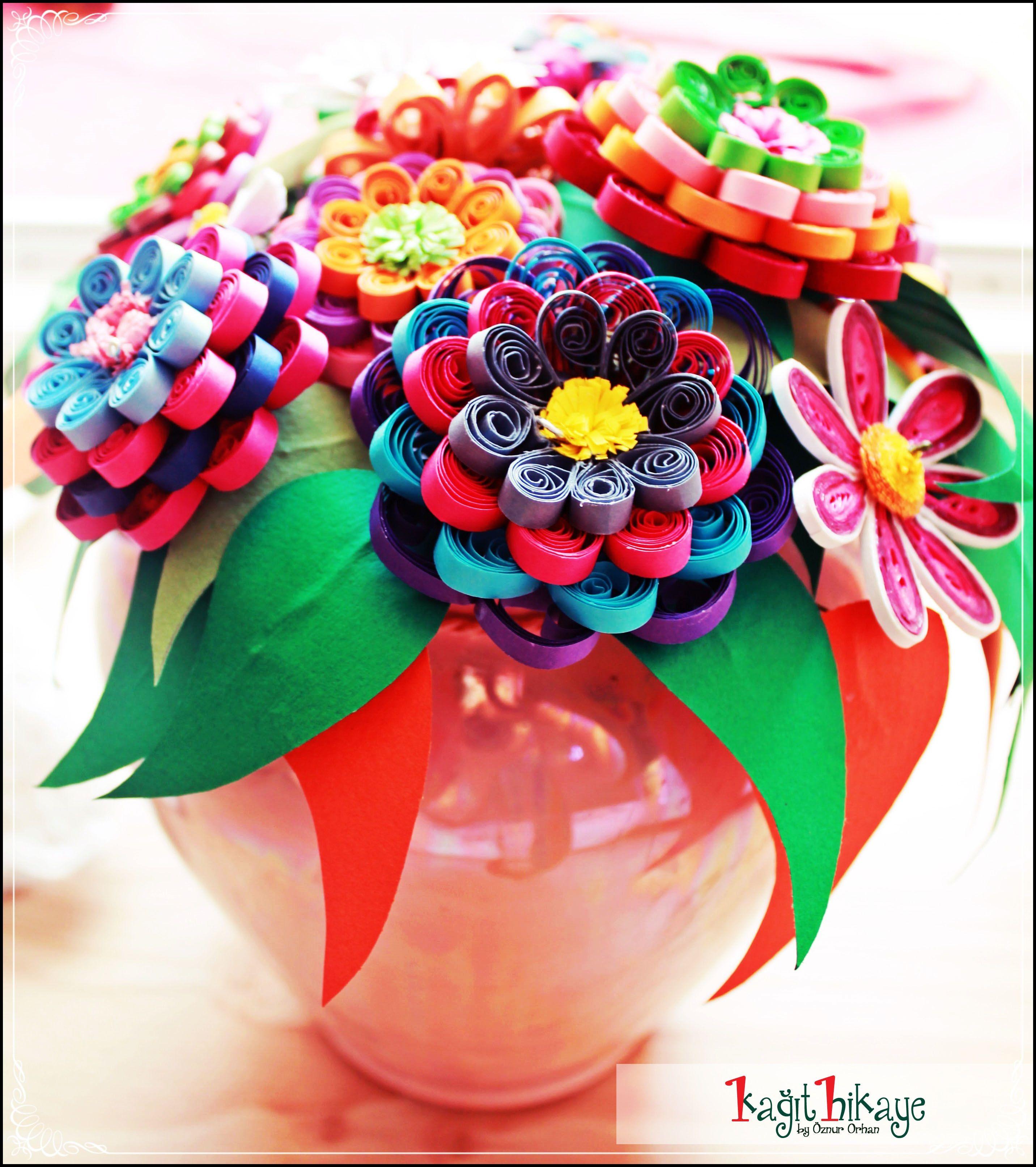 #quilling #cicekler #paperflower #quilling #paper #flowers #handmade #kagit