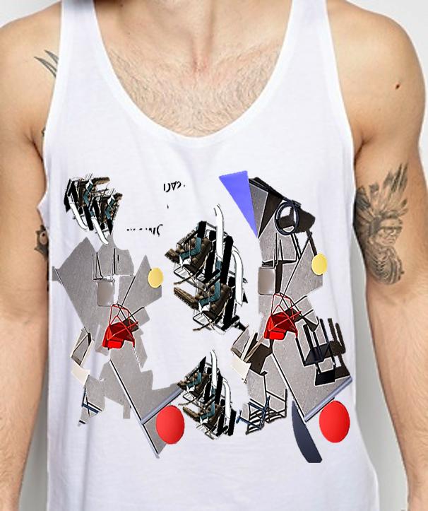 boceto n°2: #superpuesto #recortable camiseta tema: Futurismo corriente