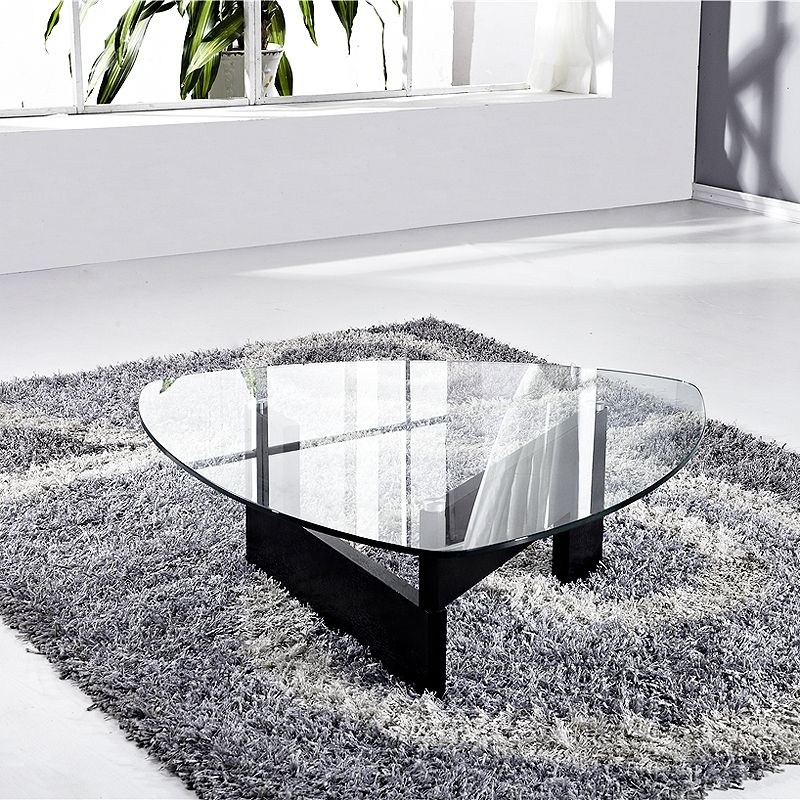 Table Basse Verre Indy Bois Wenge Noir  Table Basse  Topkoo  Dco