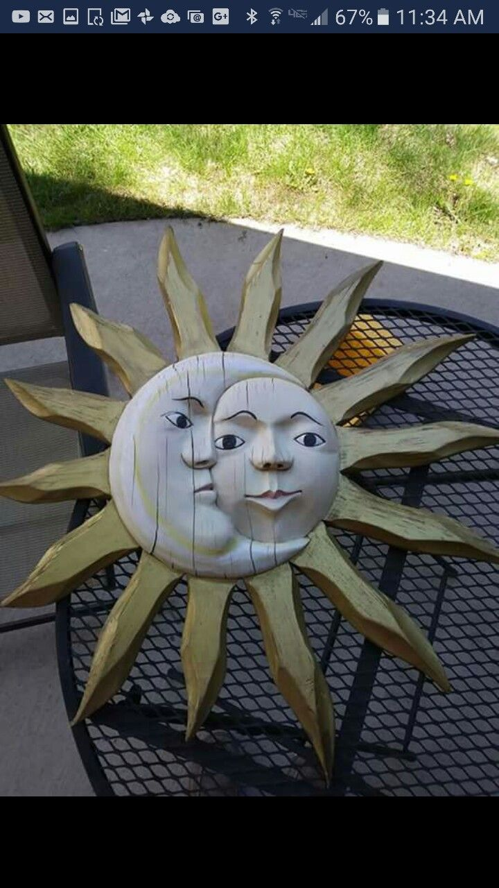 Moon face, sun