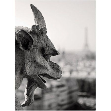 Trademark Fine Art Gargoyle Paris Canvas Art By Pierre Leclerc Walmart Com In 2020 Paris Canvas Gargoyles Notre Dame Basilica