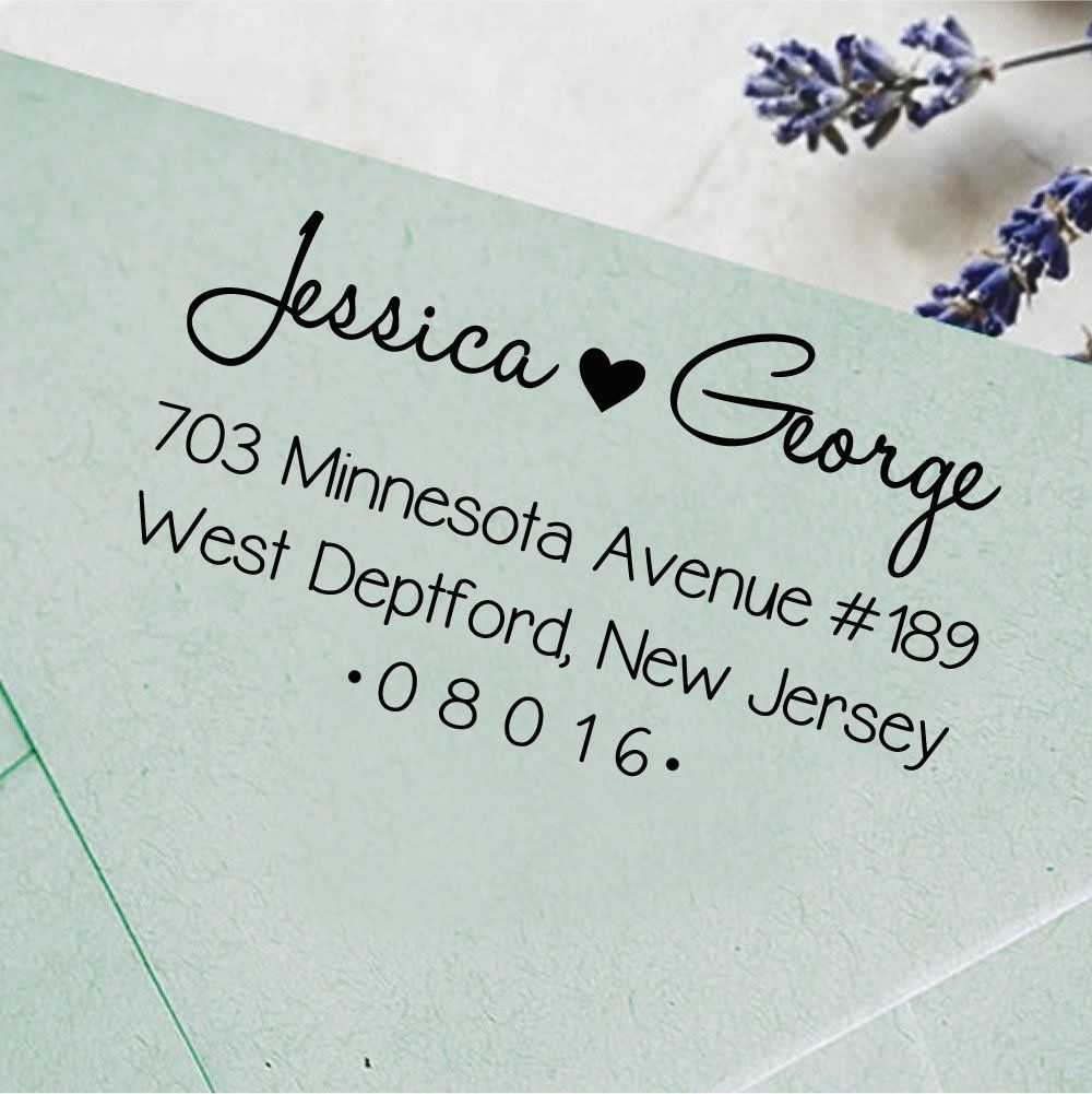 Amazon.com : Self Inking Return Address Rubber Stamp Personalized ...