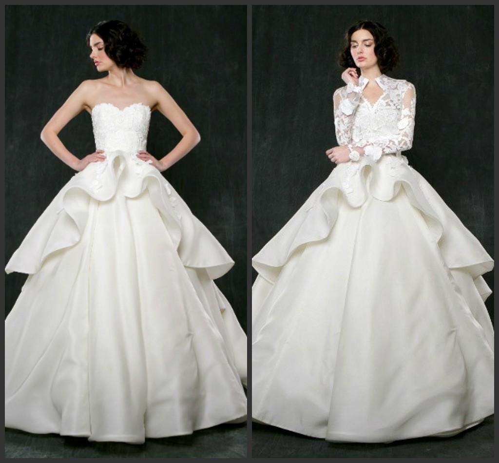 Ball Gown Wedding Dresses Cheap Price Appliques Elegant Count Train Iullsion Sexy Designer Dress Custom Made Long Design