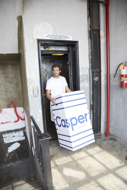 hand delivered casper box pinterest mattress