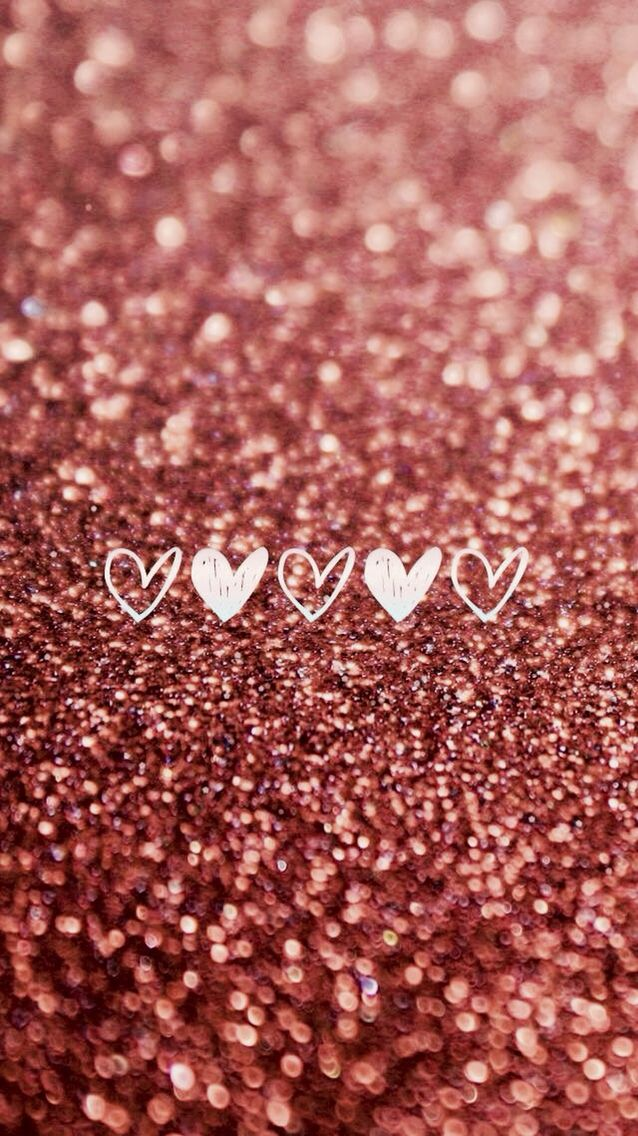 Pink Hearts And Glitter Iphone 6 Wallpaper Backgrounds Cute