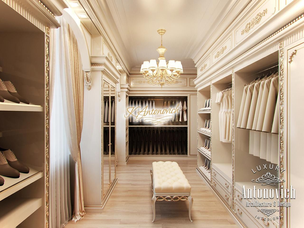 Luxury Dressing Room Interior UAE. Favorite concept design