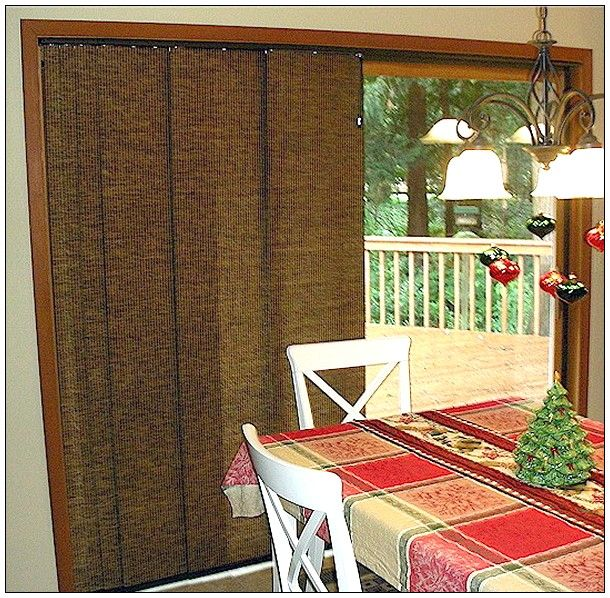 window treatment ideas for sliding doors sliding glass. Black Bedroom Furniture Sets. Home Design Ideas