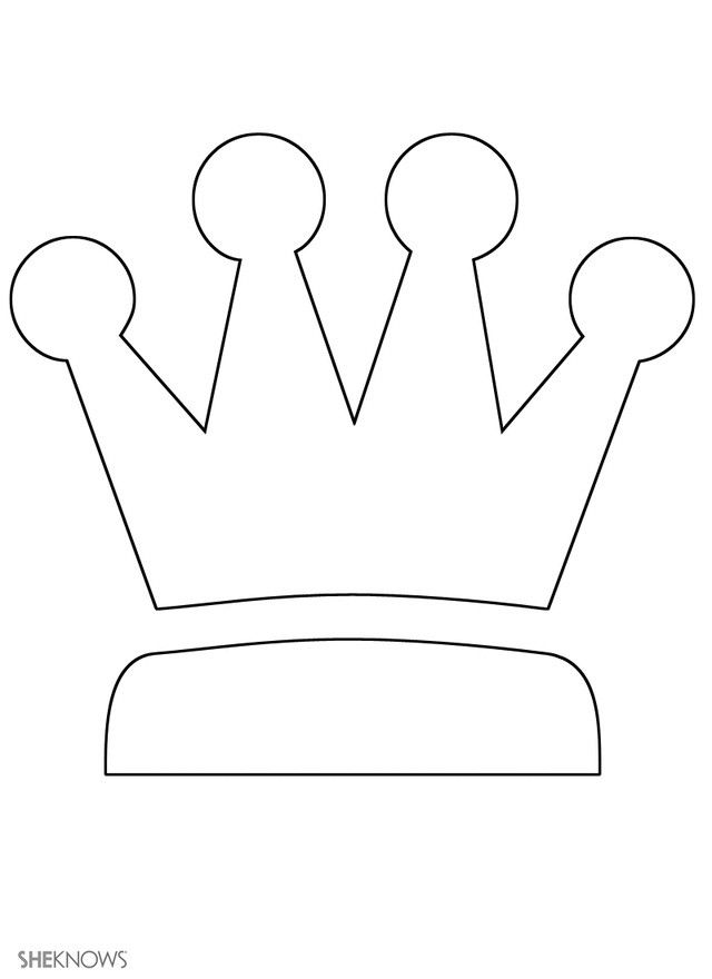 Witty image within printable king crown