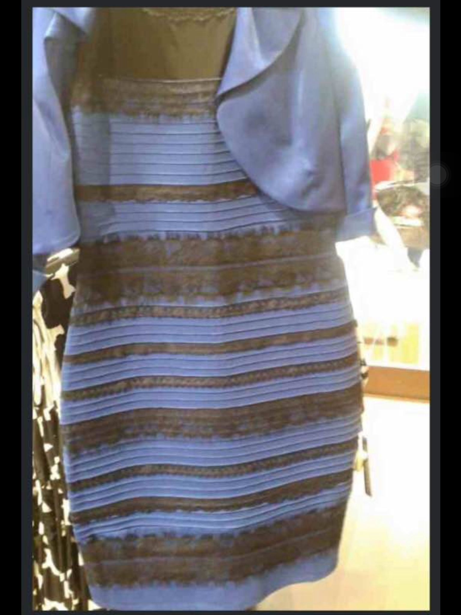White and gold dress illusion