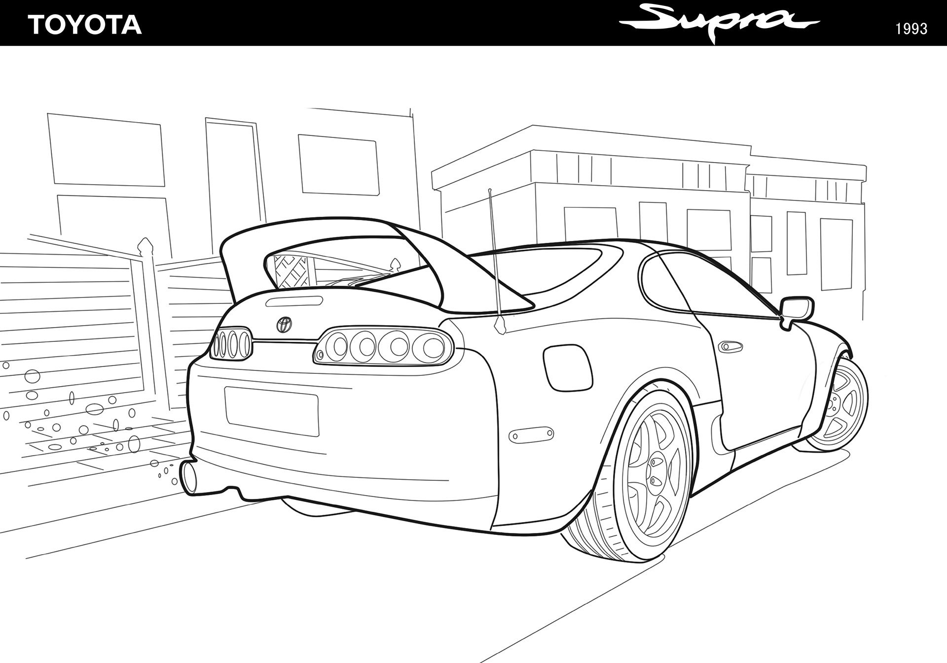 Toyota Supra On Behance In 2021 Toyota Supra Supra Toyota