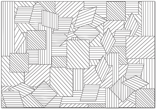 Free Geometric Chaos Coloring Page The Coloring Book Club Coloring Mandalas Dibujos Arte