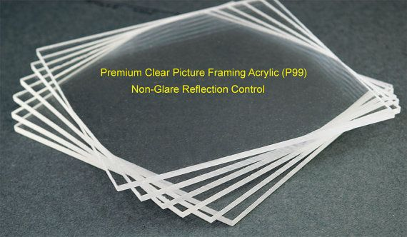 Non Glare Picture Framing Acrylic Sheet Reflection Control Etsy Acrylic Sheets Acrylic Glass Replacement