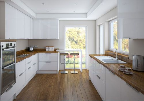 Interior White Wood Kitchen simple white galley kitchen desktop 63774 wallpapers eldhus appealing ikea gloss cabinets with solid wood countertop and hard floor to decorative kitchen