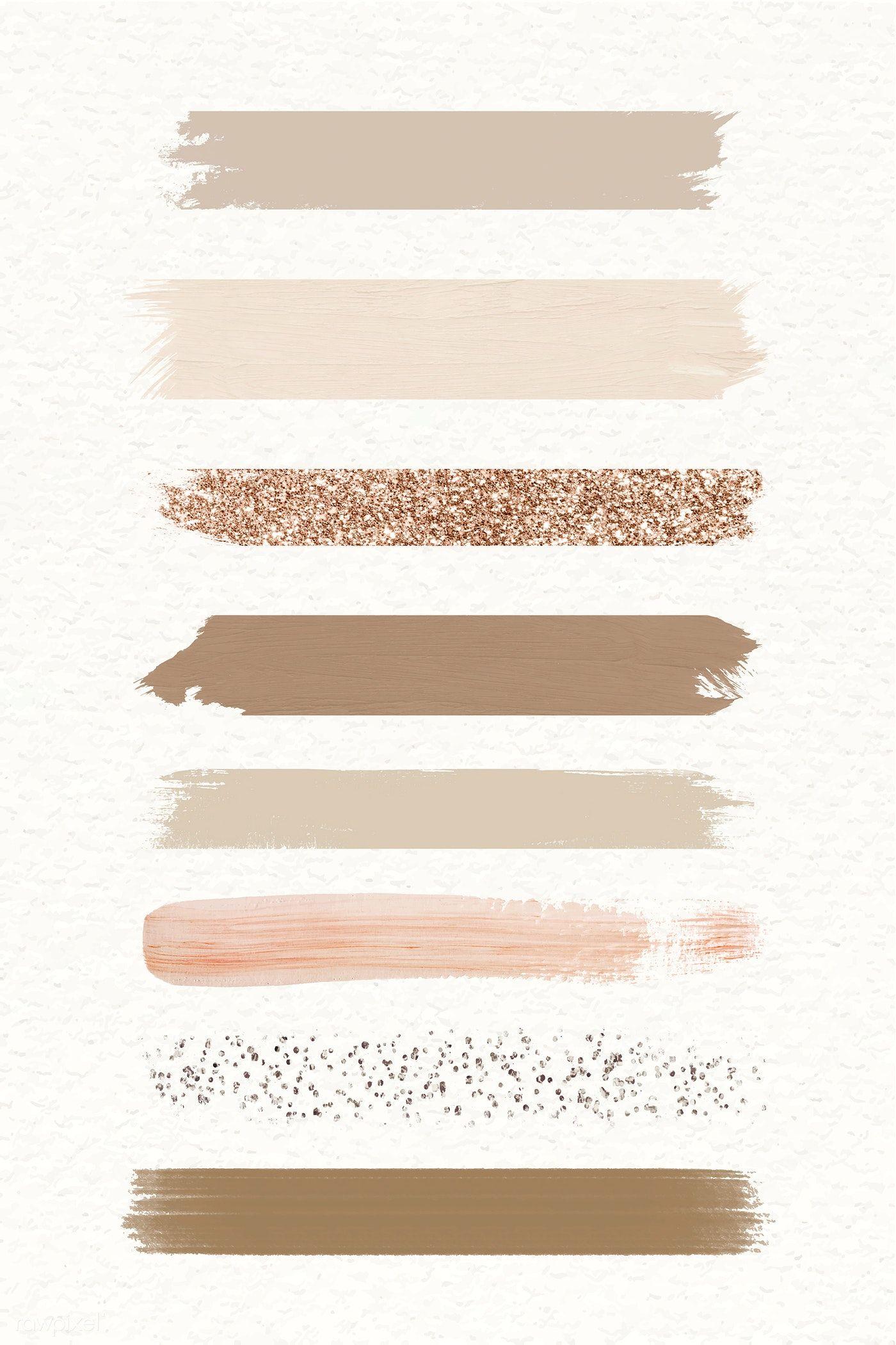 Download premium illustration of Pastel brush strokes