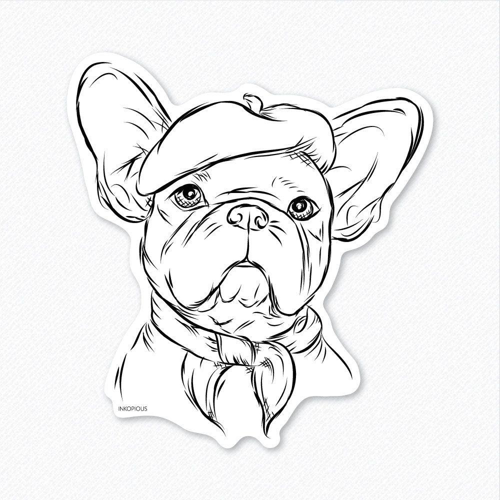 Pierre Franzosisch Bulldogge Aufkleber Hund Liebhaber Etsy French Bulldog Drawing French Bulldog Art Dog Lovers Art