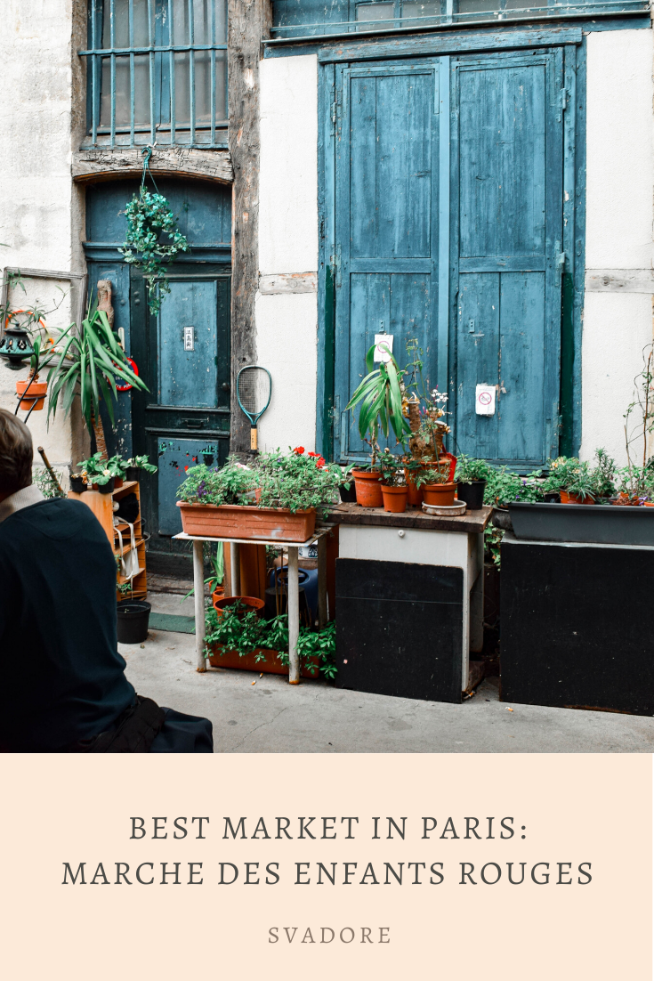 Best Markets in Paris: Marché des Enfants Rouges. Relive Paris' oldest covered market rich in diverse food options at Marché des Enfants Rouges. Where to Eat: Chez Alain Miam Miam. Pat ordered a sandwich while I ordered a buckwheat galette. Learn more at travel blog Svadore. #paris #parigi #france #market #marche #chezalainmiammiam #food #foodie #parisfood #yumyum