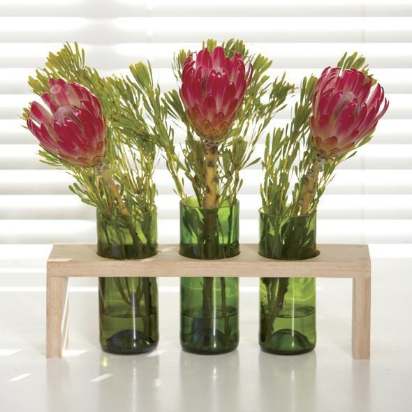 Manualidades con botellas floral art pinterest - Manualidades con botellas de cristal ...