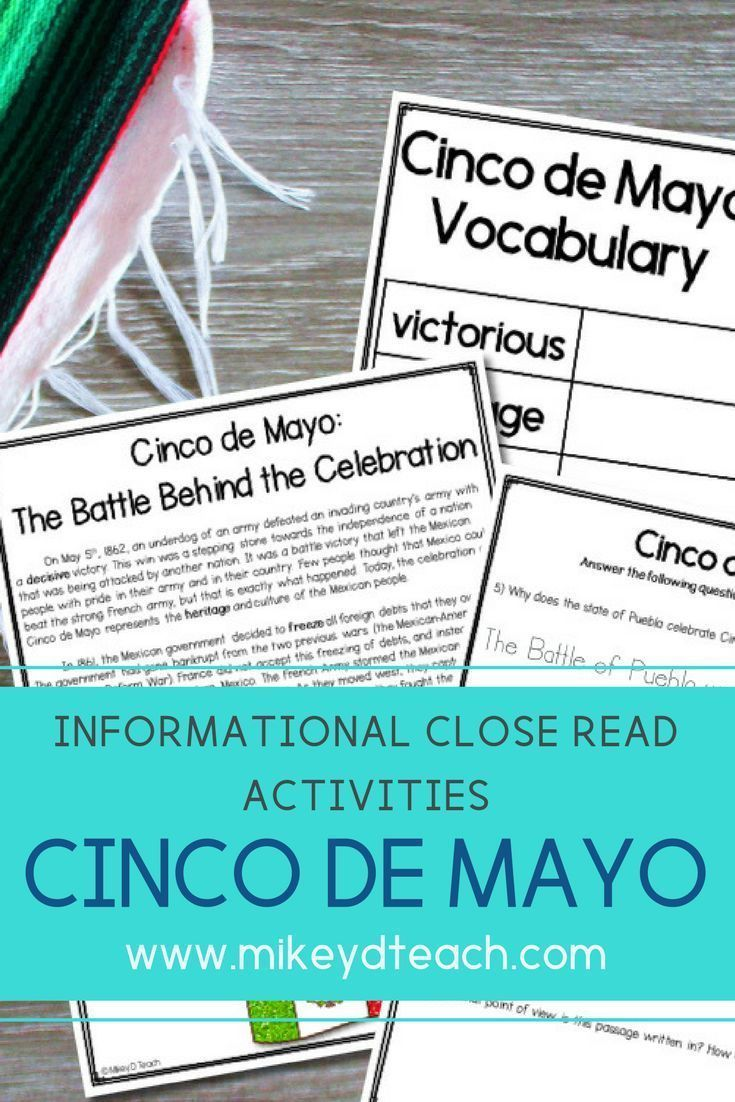 Check out these Cinco de Mayo activities for your upper