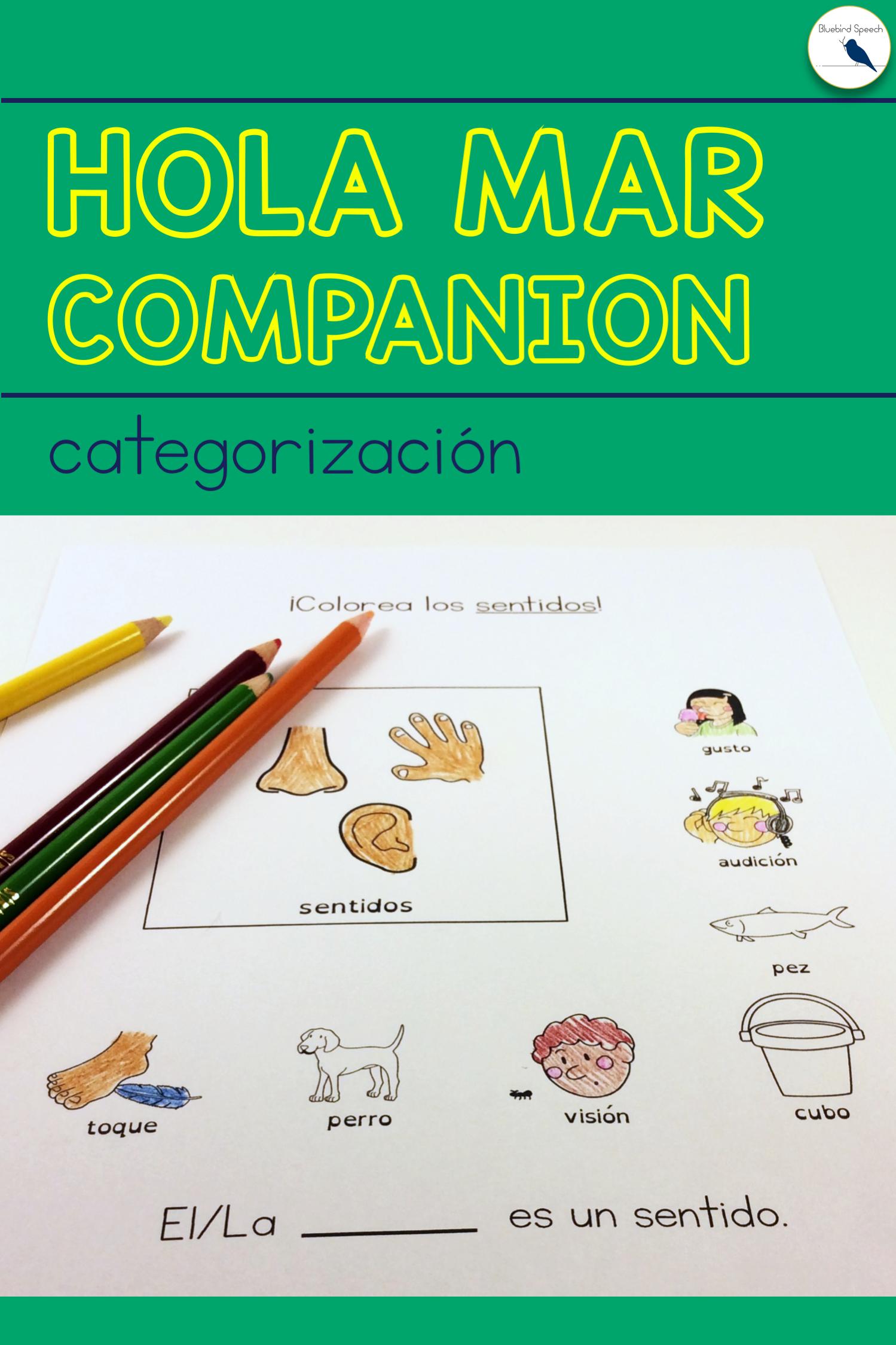 Distance Learning Hola Mar Spanish Book Companion For
