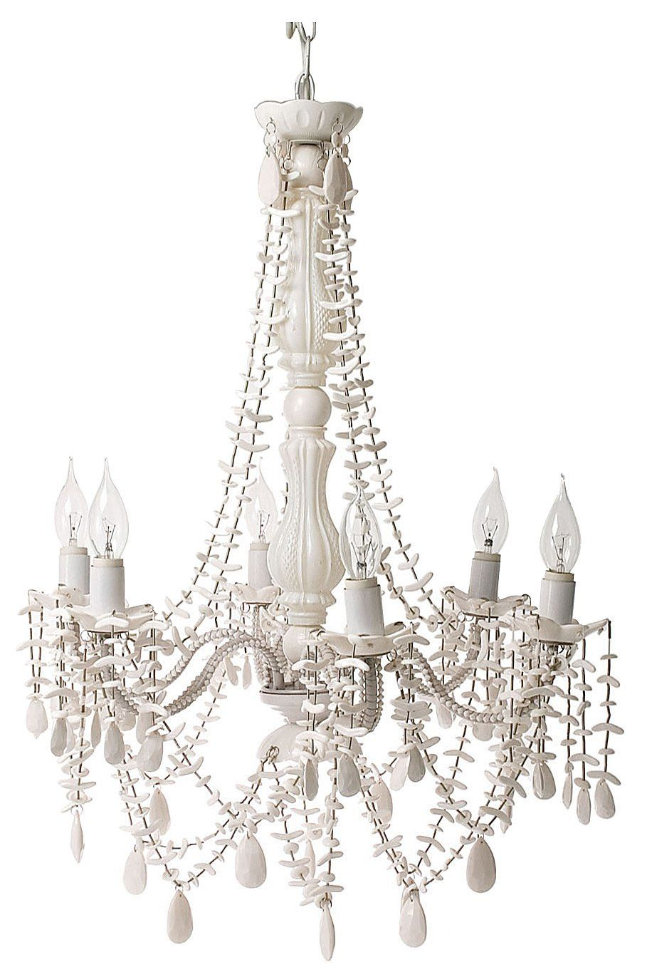 Silly lamp chandelier gypsy white shells 6 arms large free silly lamp chandelier gypsy white shells 6 arms large free shipping wow talk about lighting the way such a cute chandelier for any kids room aloadofball Choice Image