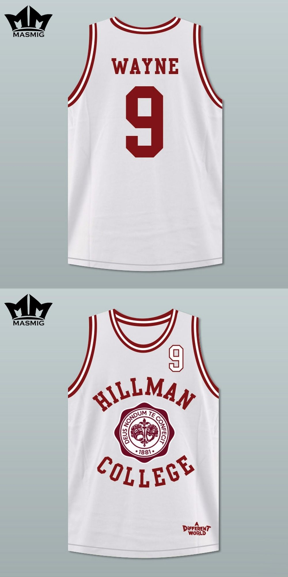 57f65ede9f9e MM MASMIG A Different World Dwayne Wayne 9 Hillman College Theater  Basketball Jersey White For Free