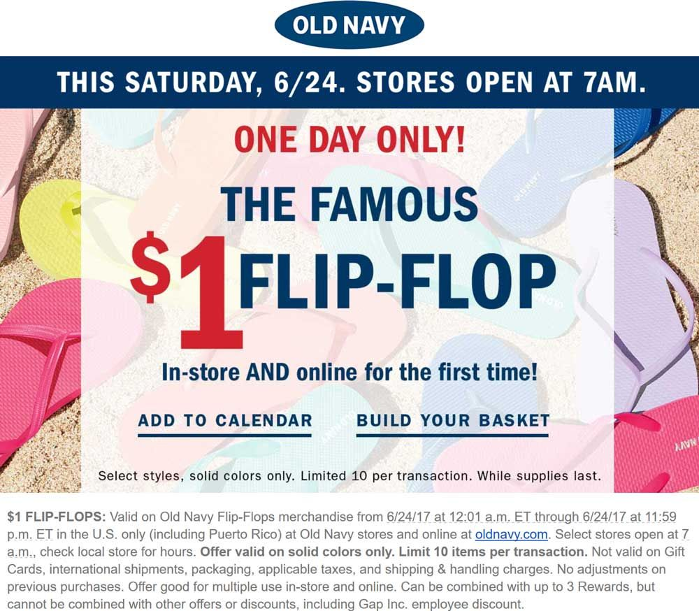 Pinned June 23rd 1 flipflops Saturday at OldNavy ditto