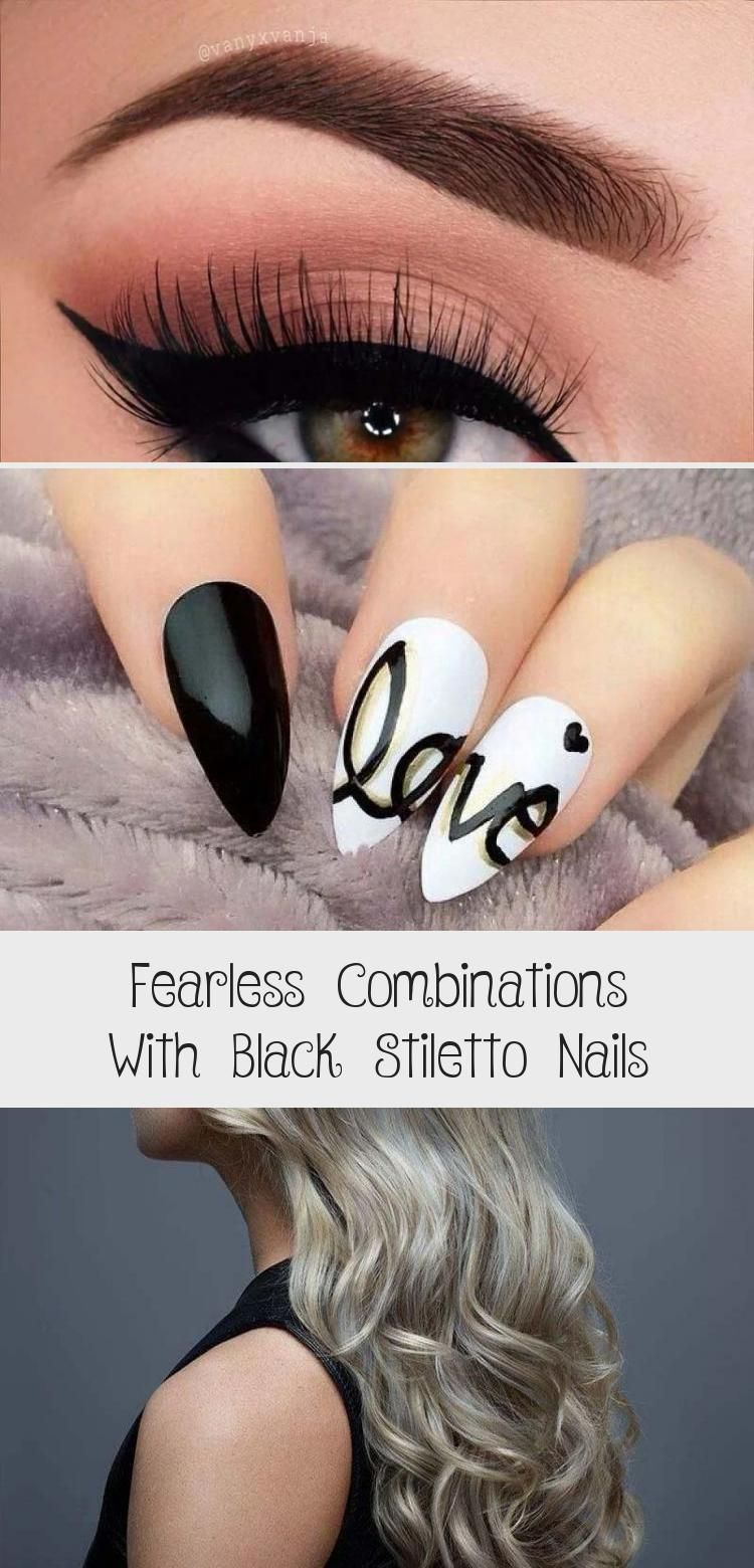 Photo of Fearless Combinations With Black Stiletto Nails – Beauty
